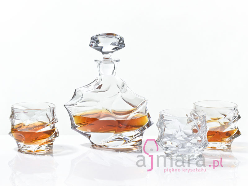 Bohemia Calypso - karafka i szklanki do whisky